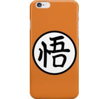 BIG GO kanji - Goku's gi iPhone Case/Skin