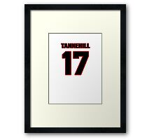 NFL Player Ryan Tannehill seventeen 17 Framed Print