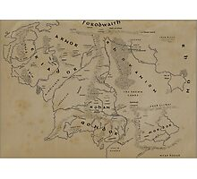 Map of Middle-earth Photographic Print