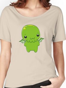 chibi cthulhu - the green monster Women's Relaxed Fit T-Shirt