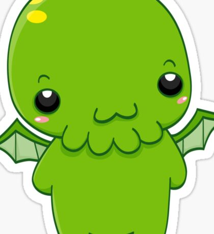 chibi cthulhu - the green monster Sticker