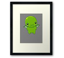 chibi cthulhu - the green monster Framed Print