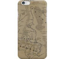 Map of Middle-earth iPhone Case/Skin
