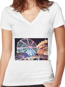 Brooklyn Nights Women's Fitted V-Neck T-Shirt