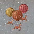 Flight of the Deer by Terry  Fan