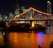 Storey Bridge viewed from Wilson Outlook Reserve. by Wayne  Nixon  (W E NIXON PHOTOGRAPHY)
