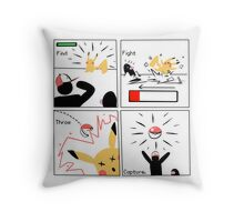 Find, Fight, Throw, Capture. Throw Pillow