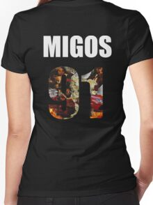 Migos - Culture Jersey 2 Women's Fitted V-Neck T-Shirt