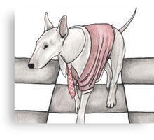 Bull terrier vector Canvas Print