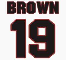 NFL Player Vincent Brown nineteen 19 by imsport