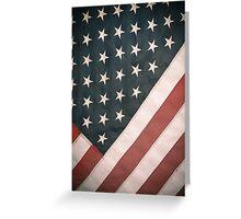 Retro USA Flag Greeting Card