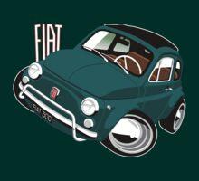 Classic Fiat 500L caricature green T-Shirt