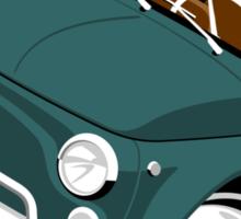 Classic Fiat 500L caricature green Sticker