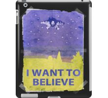 Dude I Want To Believe 14 iPad Case/Skin
