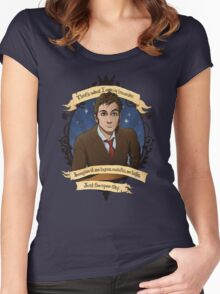 10th Doctor - Doctor Who Women's Fitted Scoop T-Shirt