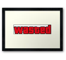 Wasted Framed Print