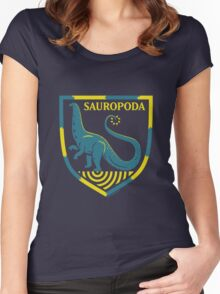 Sauropoda: Dinosaur Coat of Arms Women's Fitted Scoop T-Shirt