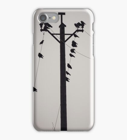 Starlings on a wire iPhone Case/Skin
