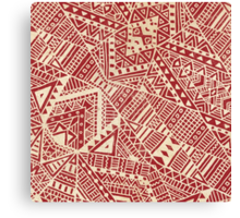 Tribal (red))  Canvas Print