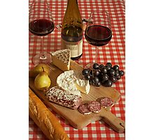 Cheese and Wine Photographic Print