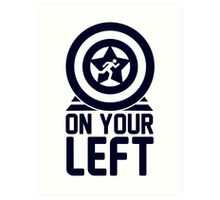 On Your Left on a Unisex Tank Top Art Print