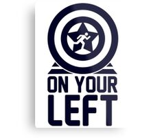 On Your Left on a Unisex Tank Top Metal Print