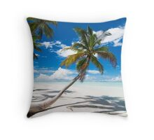 Canoe Beach II - Cocos (Keeling) Islands Throw Pillow