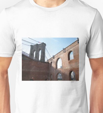 Brooklyn Bridge, View from Brooklyn Bridge Park, New York  T-Shirt