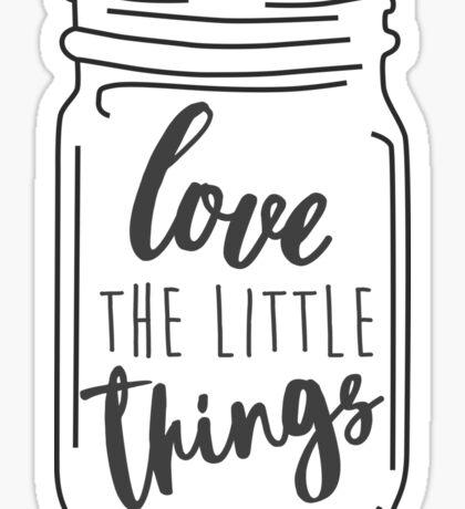 Enjoy the Little Things Mason Jar Quote Sticker
