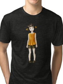 Girl in Shorts Tri-blend T-Shirt
