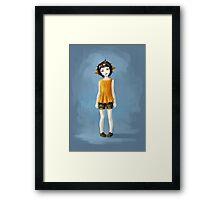 Girl in Shorts Framed Print