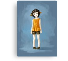 Girl in Shorts Canvas Print
