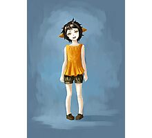 Girl in Shorts Photographic Print