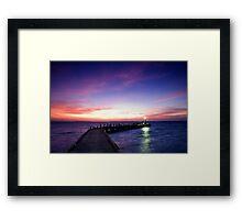 Light on the Jetty - Cocos (Keeling) Islands Framed Print