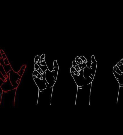 guns for hands inspired art Sticker