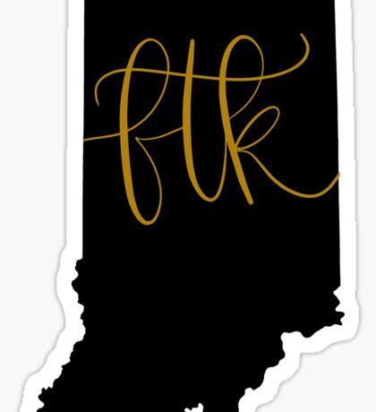 FTK - Indiana (Black) Sticker