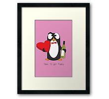 Love Penguin Framed Print