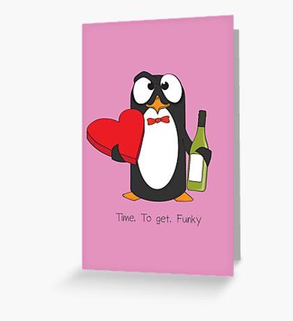 Love Penguin Greeting Card