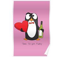 Love Penguin Poster