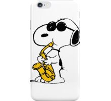 Snoopy sax iPhone Case/Skin