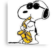 Snoopy sax Canvas Print