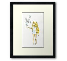 Jellyfish Girl Framed Print