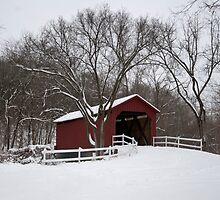 Winter at the Sandy Creek Coverd Bridge by barnsis