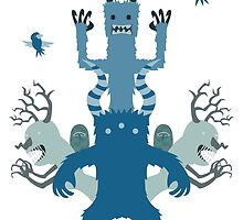 Blue Monsters! by luisguadalupe