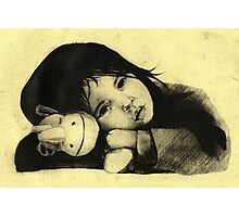 Girl Etching 3 Photographic Print