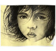 Girl Etching 2 Poster