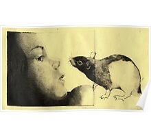 Girl and a Rat Poster