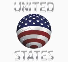 United States - American Flag - Football or Soccer Ball & Text 2 One Piece - Short Sleeve