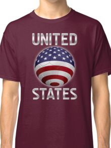 United States - American Flag - Football or Soccer Ball & Text 2 Classic T-Shirt