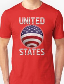 United States - American Flag - Football or Soccer Ball & Text 2 T-Shirt